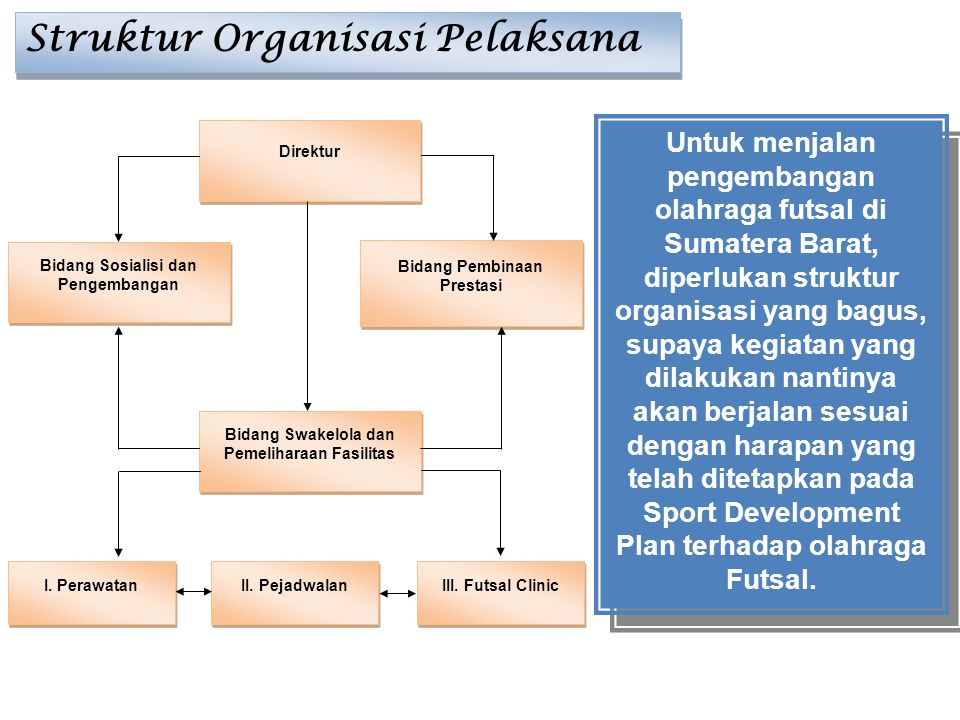 Struktur Organisasi Pelaksana