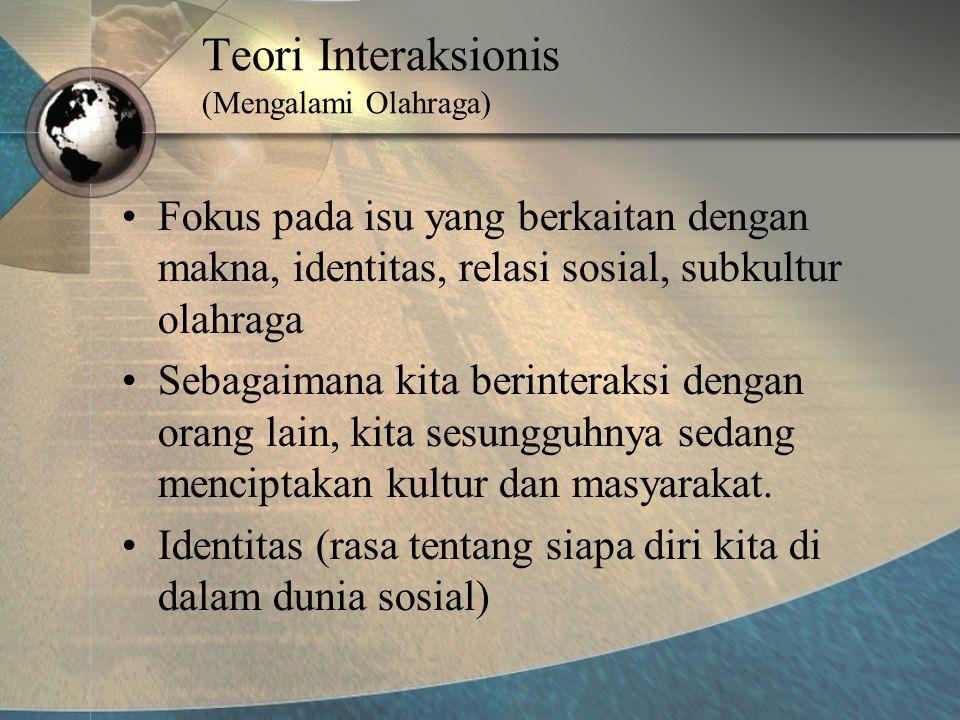 Teori Interaksionis (Mengalami Olahraga)
