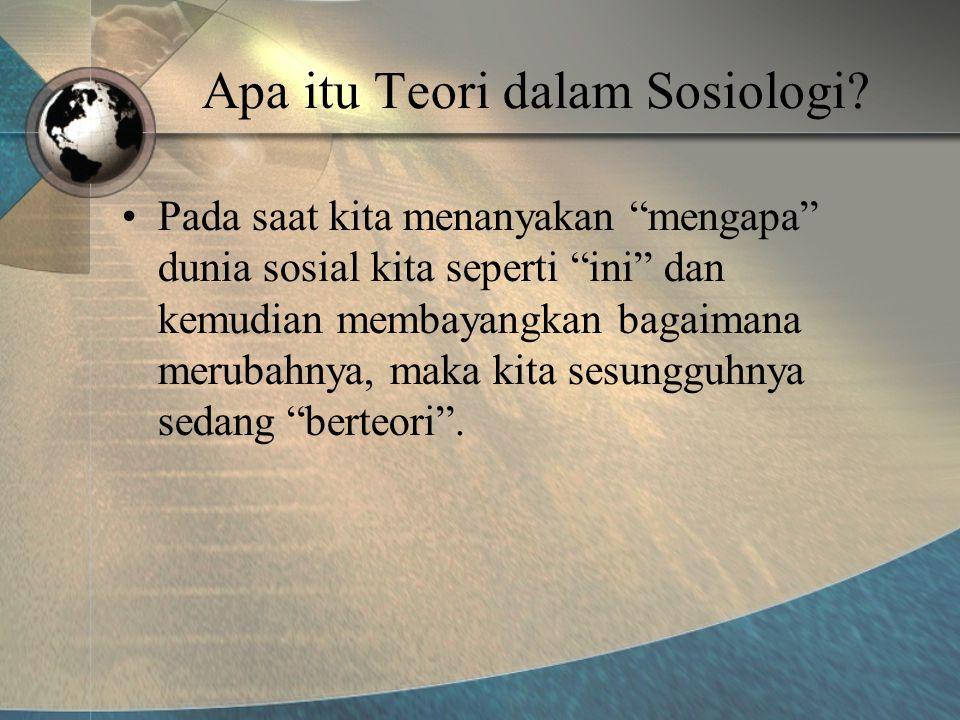 Apa itu Teori dalam Sosiologi