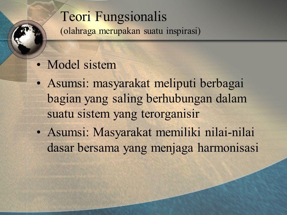 Teori Fungsionalis (olahraga merupakan suatu inspirasi)