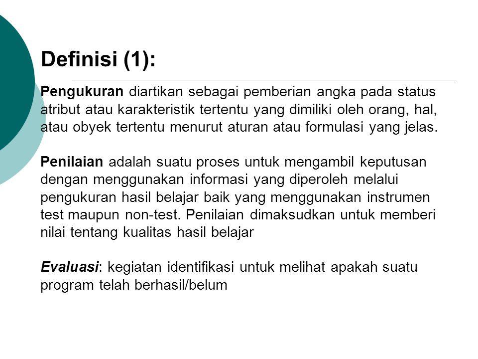 Definisi (1):