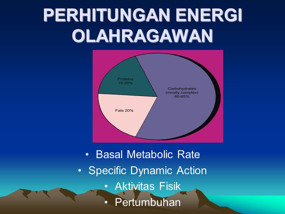 PERHITUNGAN ENERGI OLAHRAGAWAN