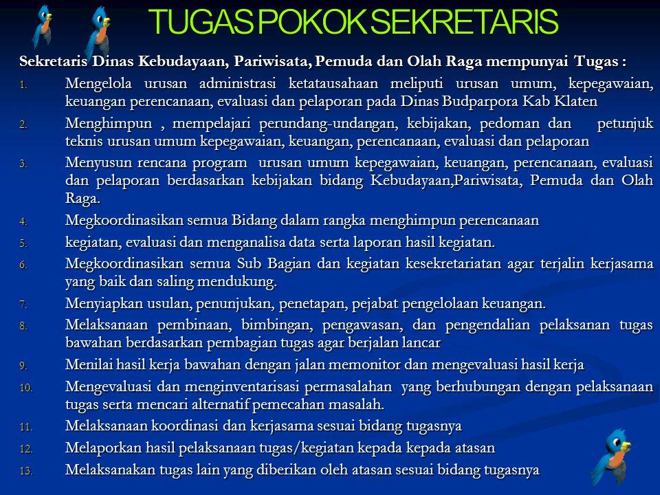 TUGAS POKOK SEKRETARIS