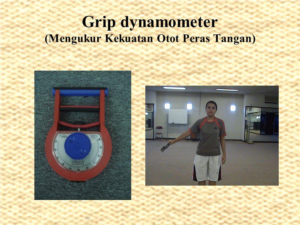 Grip dynamometer (Mengukur Kekuatan Otot Peras Tangan)
