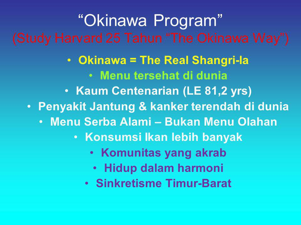 Okinawa Program (Study Harvard 25 Tahun The Okinawa Way )