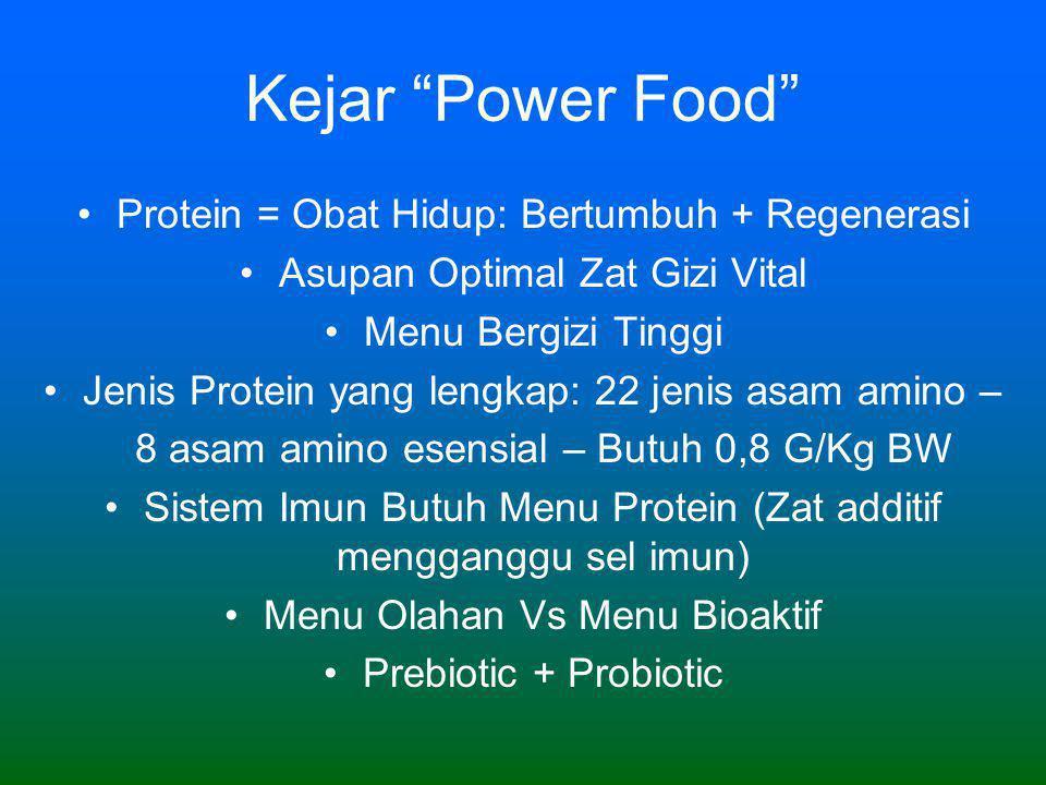 Kejar Power Food Protein = Obat Hidup: Bertumbuh + Regenerasi