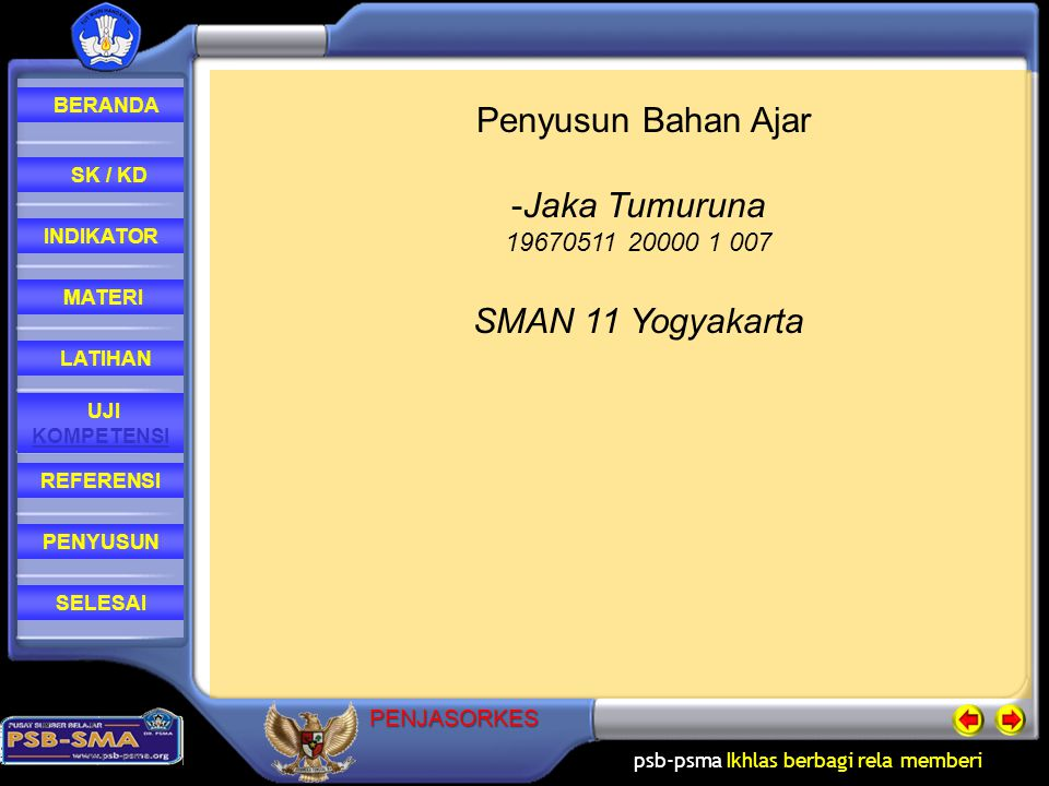 Penyusun Bahan Ajar Jaka Tumuruna SMAN 11 Yogyakarta