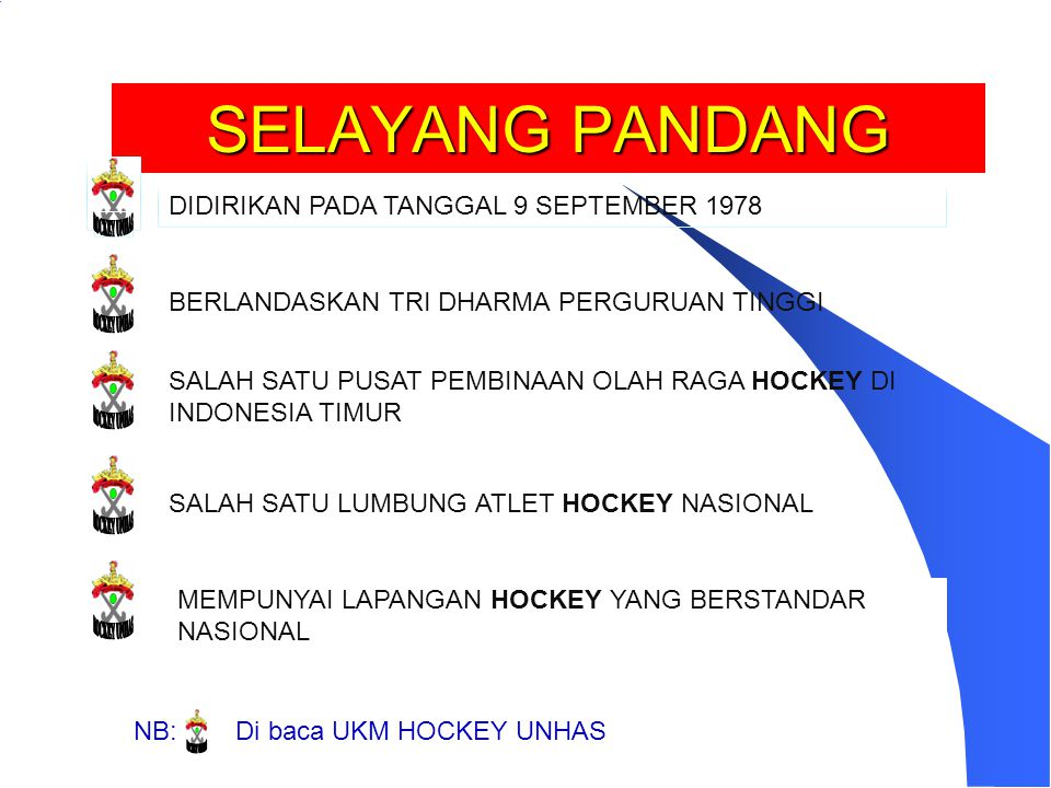 SELAYANG PANDANG HOCKEY UNHAS HOCKEY UNHAS HOCKEY UNHAS HOCKEY UNHAS