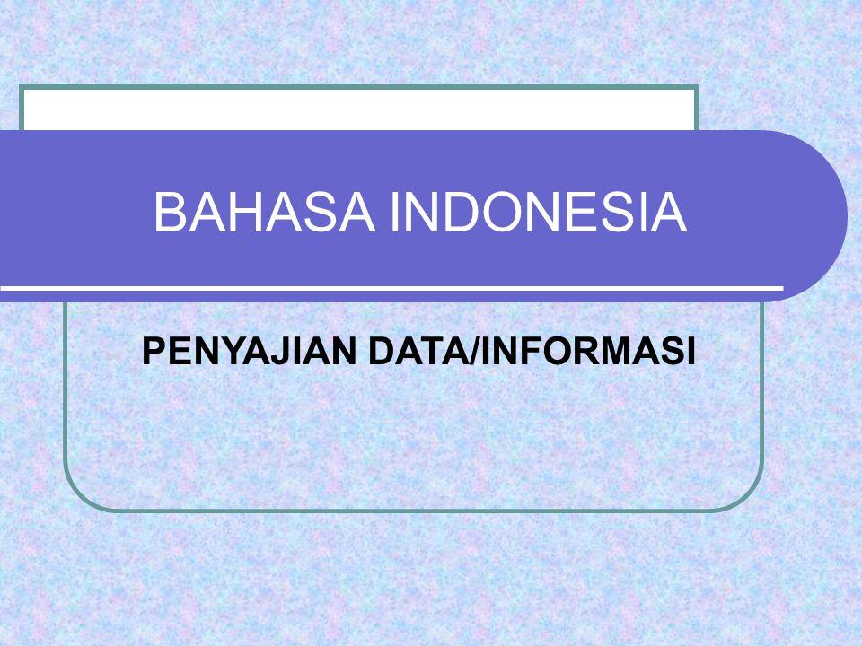 PENYAJIAN DATA/INFORMASI
