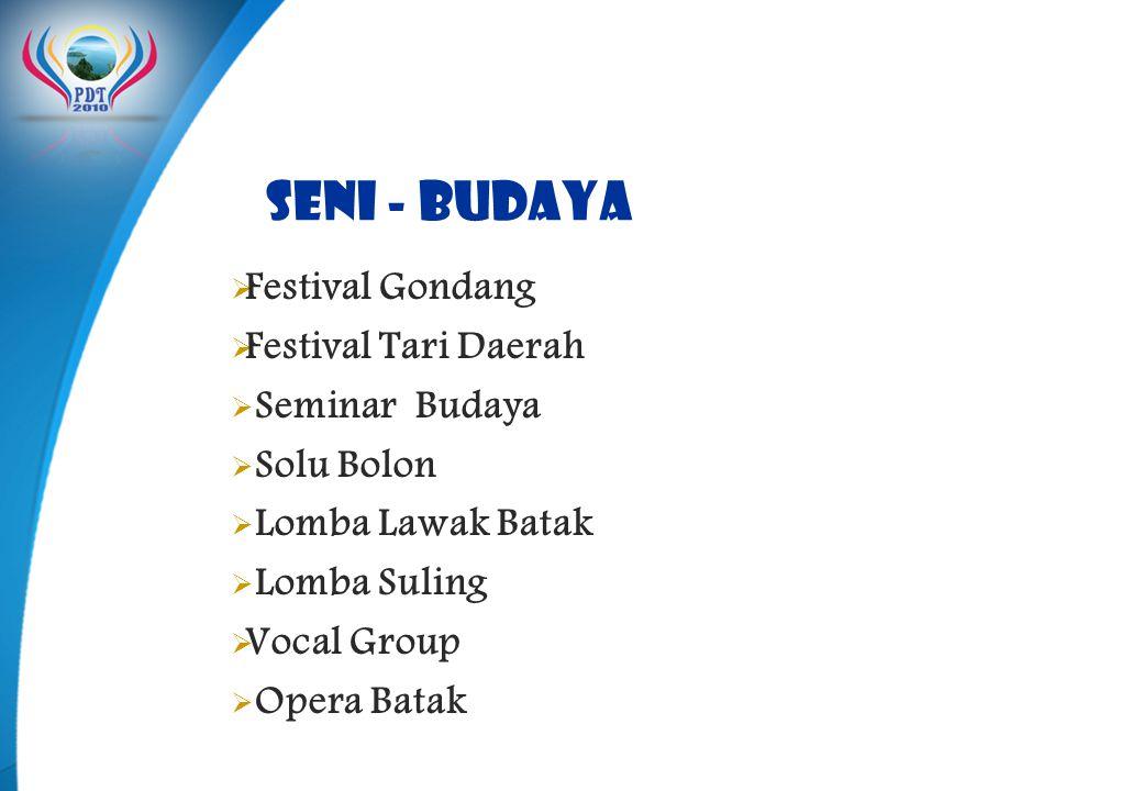 Seni - Budaya Festival Gondang Festival Tari Daerah Seminar Budaya
