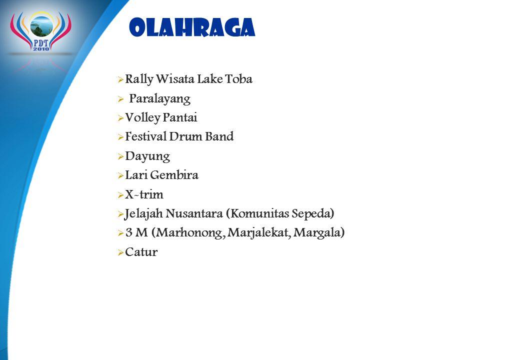 olahraga Rally Wisata Lake Toba Paralayang Volley Pantai