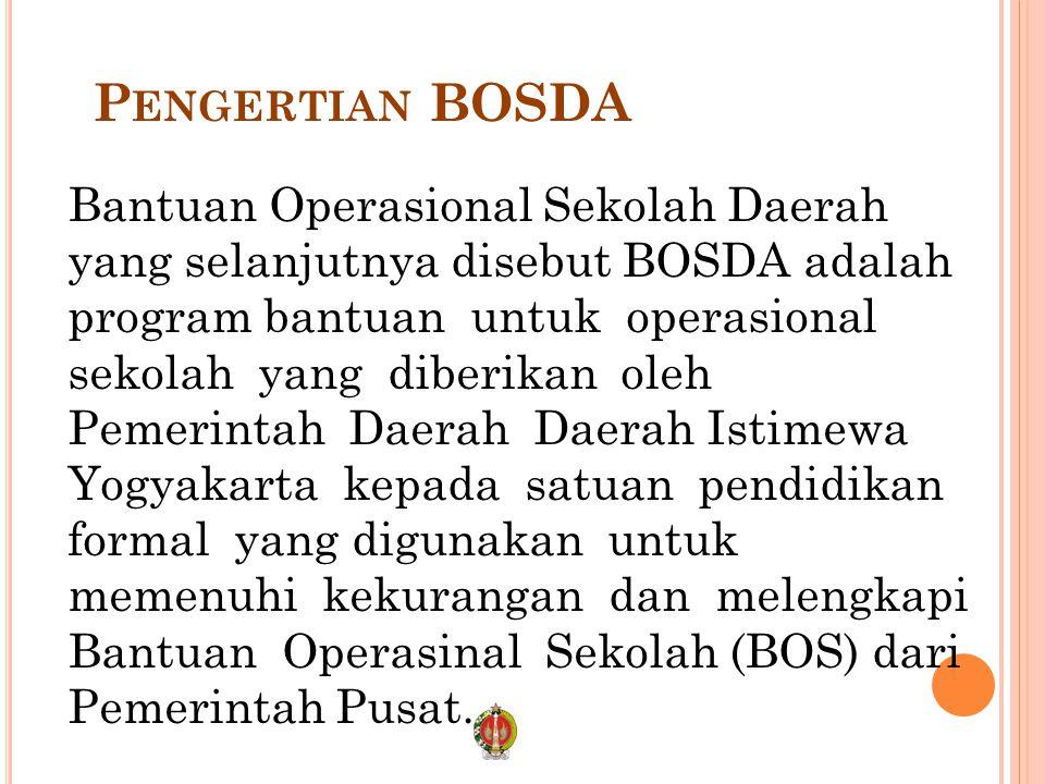 Pengertian BOSDA
