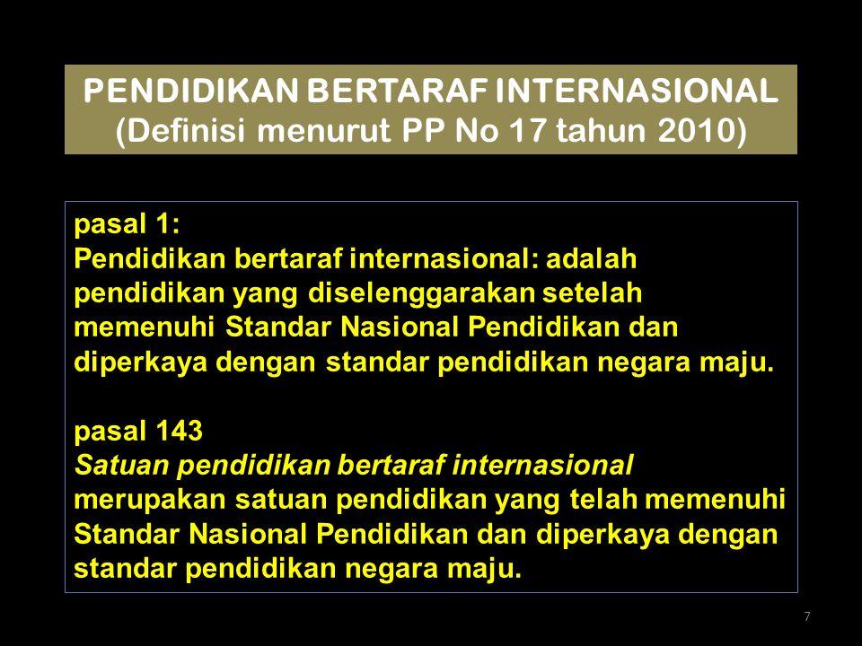 PENDIDIKAN BERTARAF INTERNASIONAL