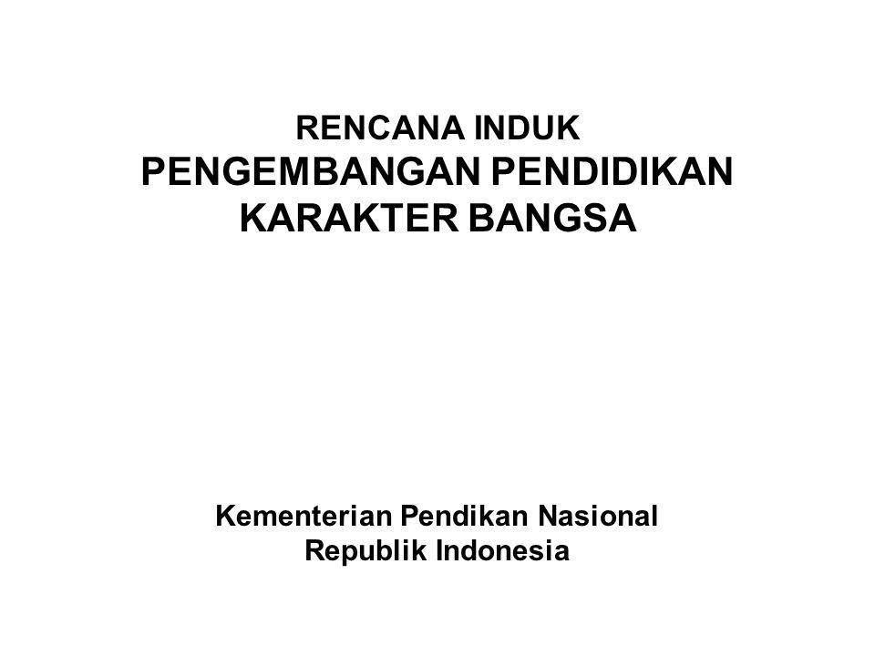 PENGEMBANGAN PENDIDIKAN KARAKTER BANGSA Kementerian Pendikan Nasional
