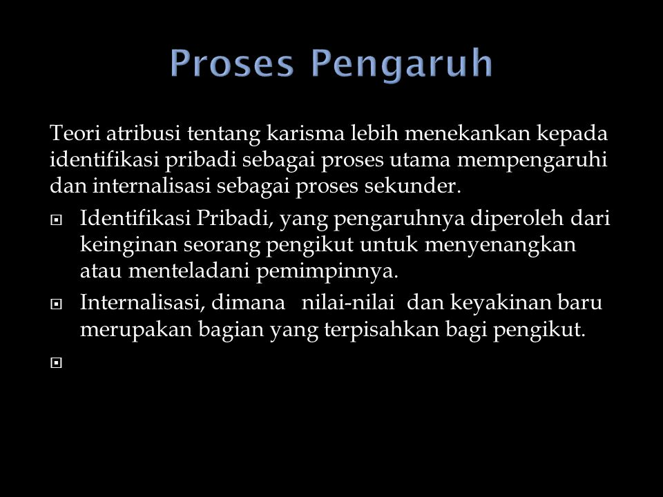 Proses Pengaruh