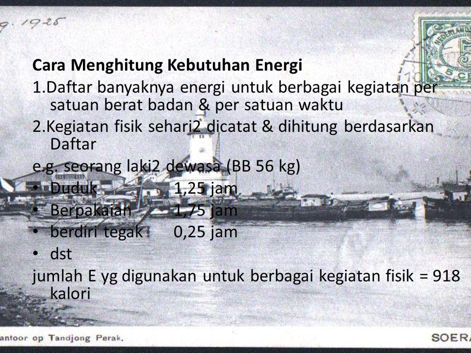 Cara Menghitung Kebutuhan Energi