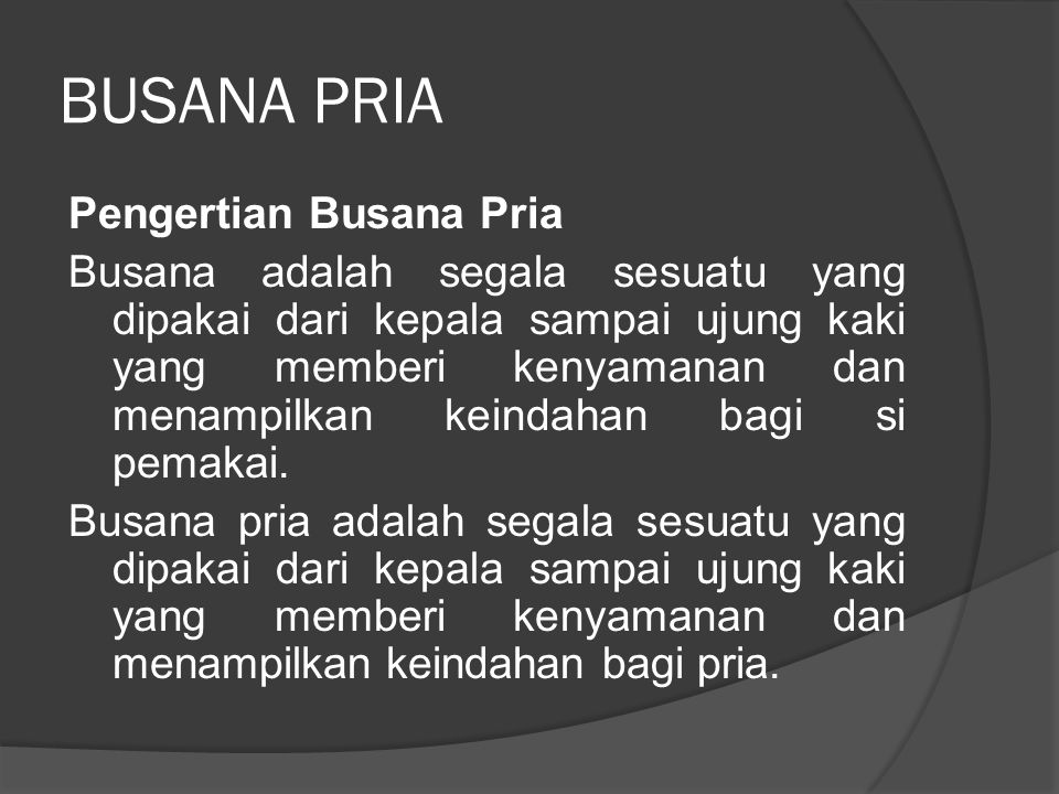 BUSANA PRIA