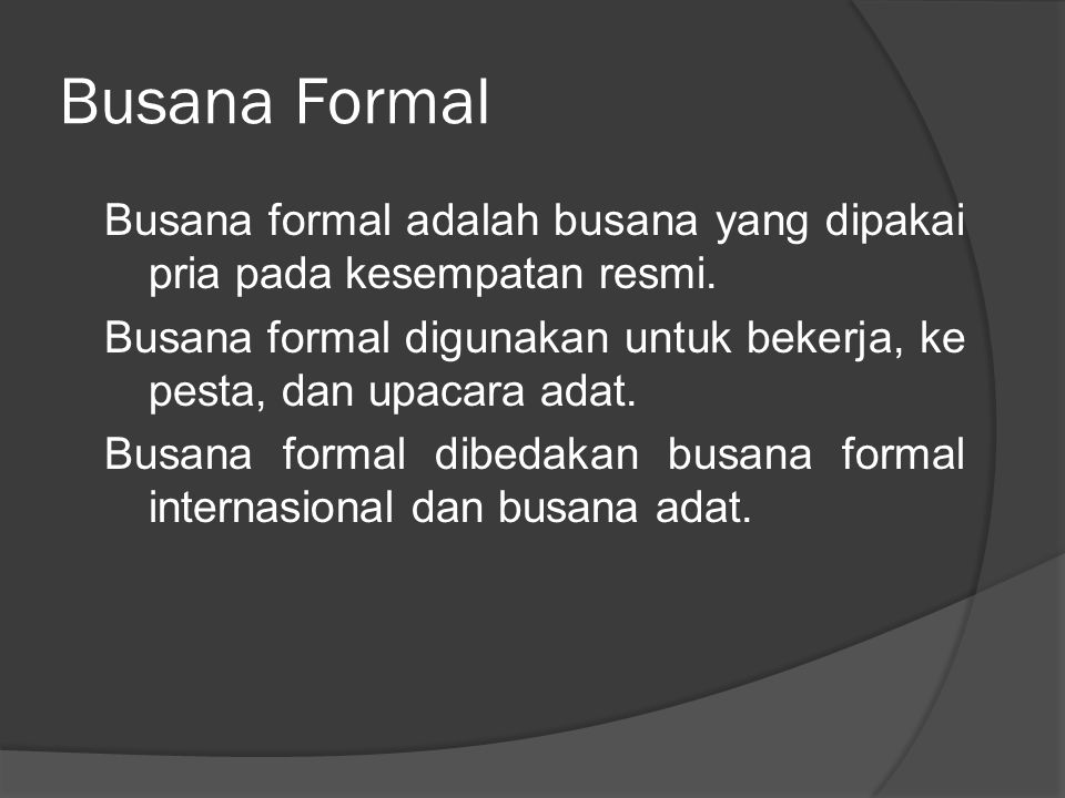 Busana Formal
