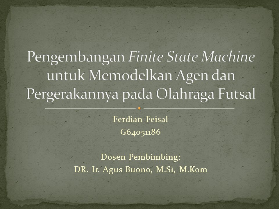 DR. Ir. Agus Buono, M.Si, M.Kom