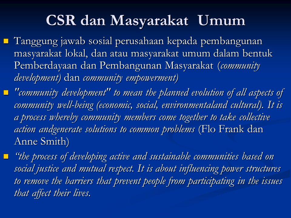 CSR dan Masyarakat Umum