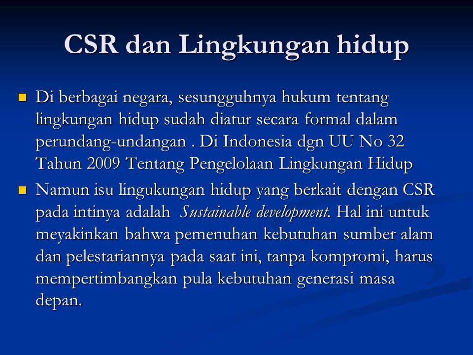 CSR dan Lingkungan hidup