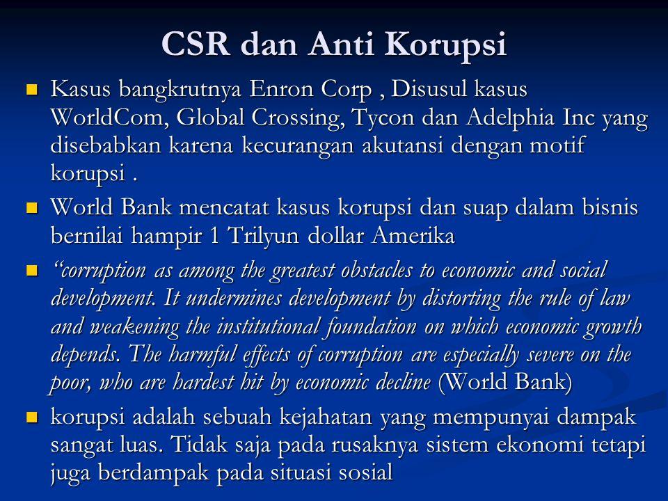 CSR dan Anti Korupsi