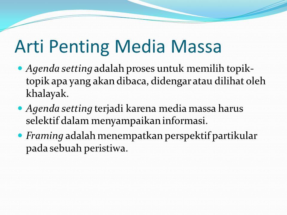 Arti Penting Media Massa