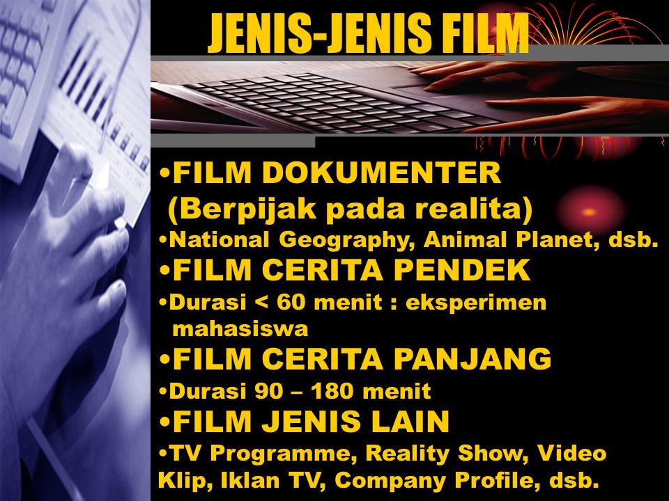 JENIS-JENIS FILM FILM DOKUMENTER (Berpijak pada realita)
