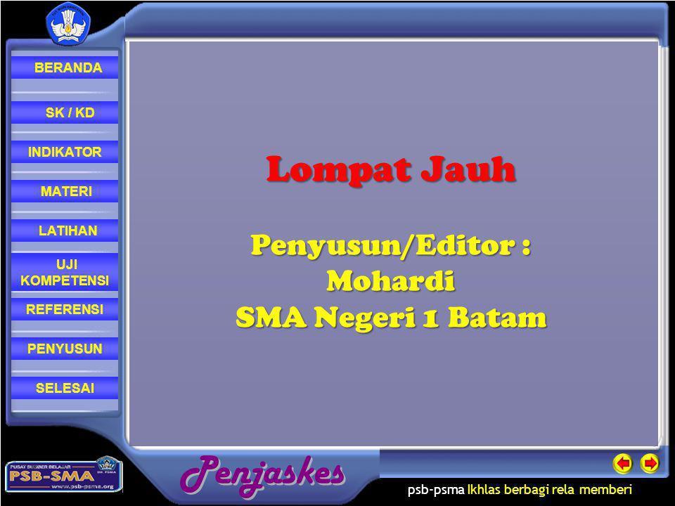 Lompat Jauh Penyusun/Editor : Mohardi SMA Negeri 1 Batam