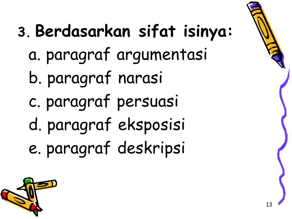 a. paragraf argumentasi b. paragraf narasi c. paragraf persuasi