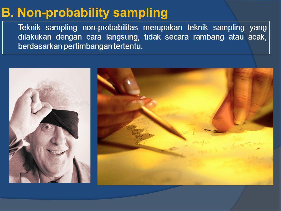 B. Non-probability sampling