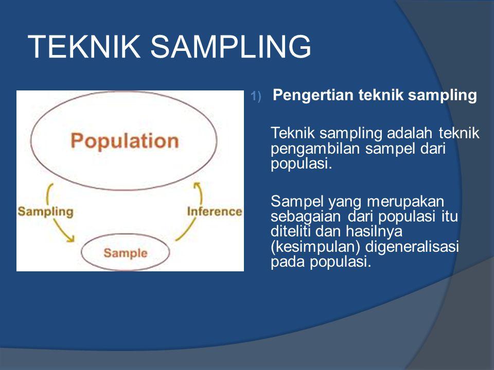 TEKNIK SAMPLING Pengertian teknik sampling