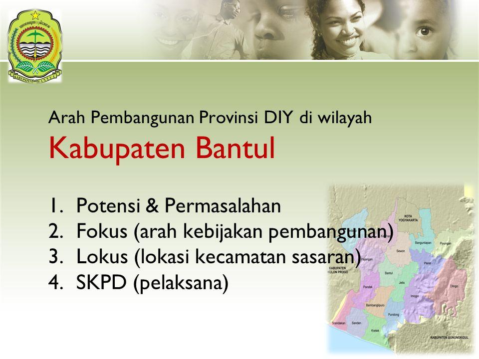 Arah Pembangunan Provinsi DIY di wilayah Kabupaten Bantul
