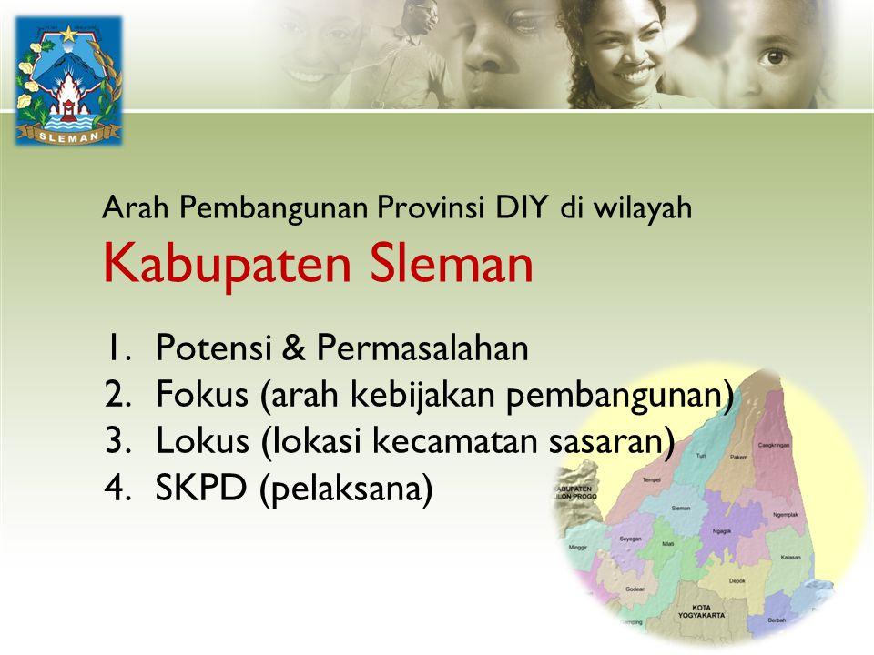 Arah Pembangunan Provinsi DIY di wilayah Kabupaten Sleman