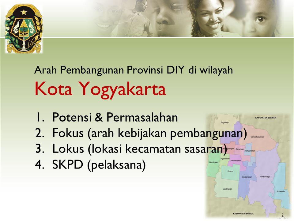 Arah Pembangunan Provinsi DIY di wilayah Kota Yogyakarta