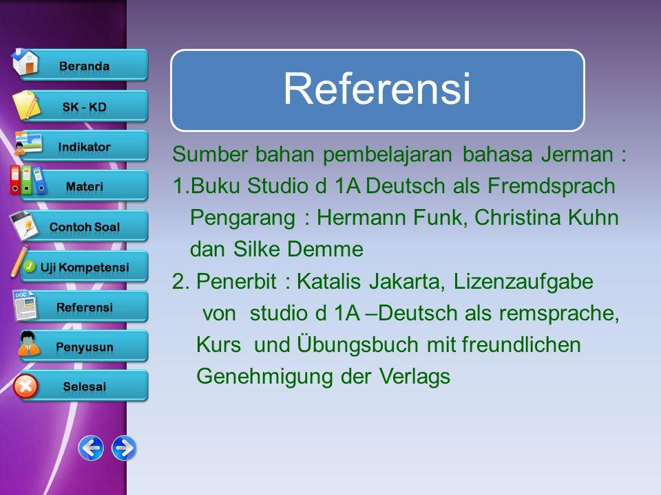 Referensi Sumber bahan pembelajaran bahasa Jerman :