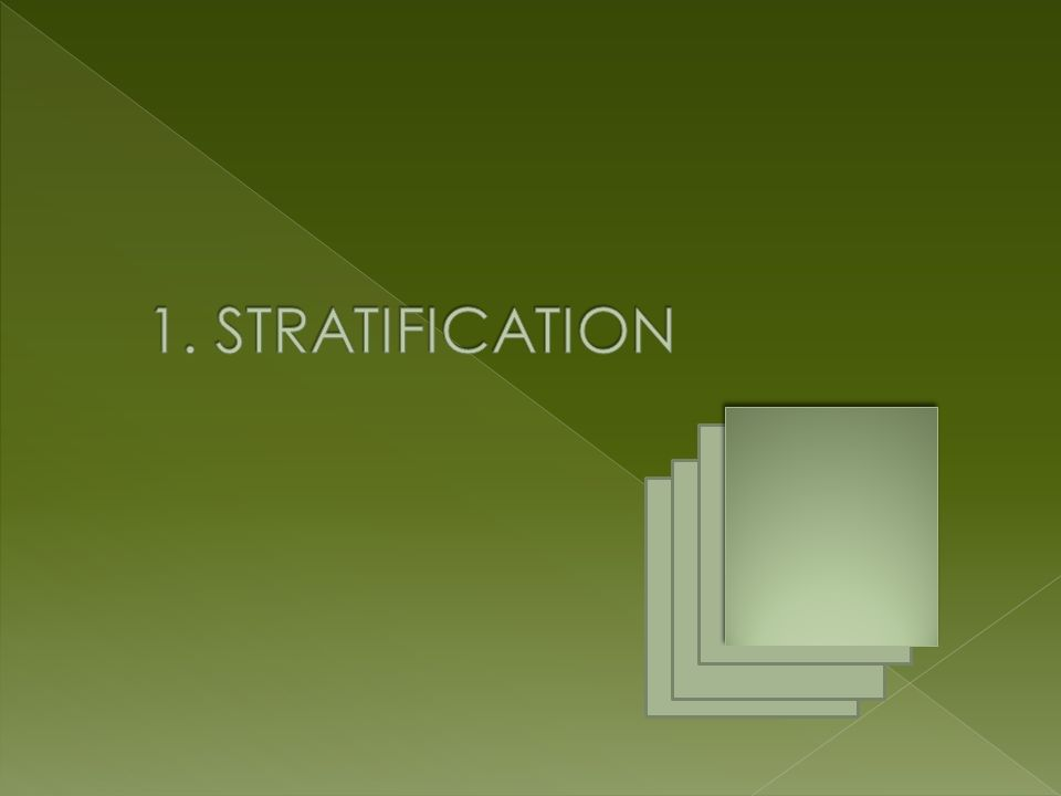 1. STRATIFICATION