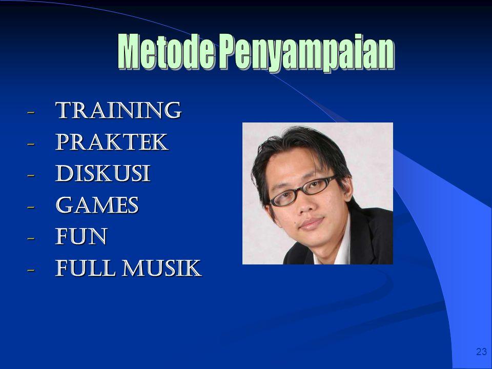 Metode Penyampaian Training Praktek Diskusi Games Fun Full Musik 23 23