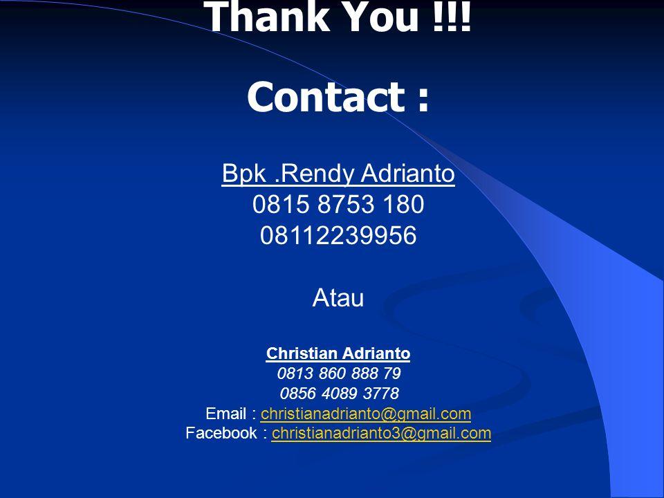 Facebook : christianadrianto3@gmail.com
