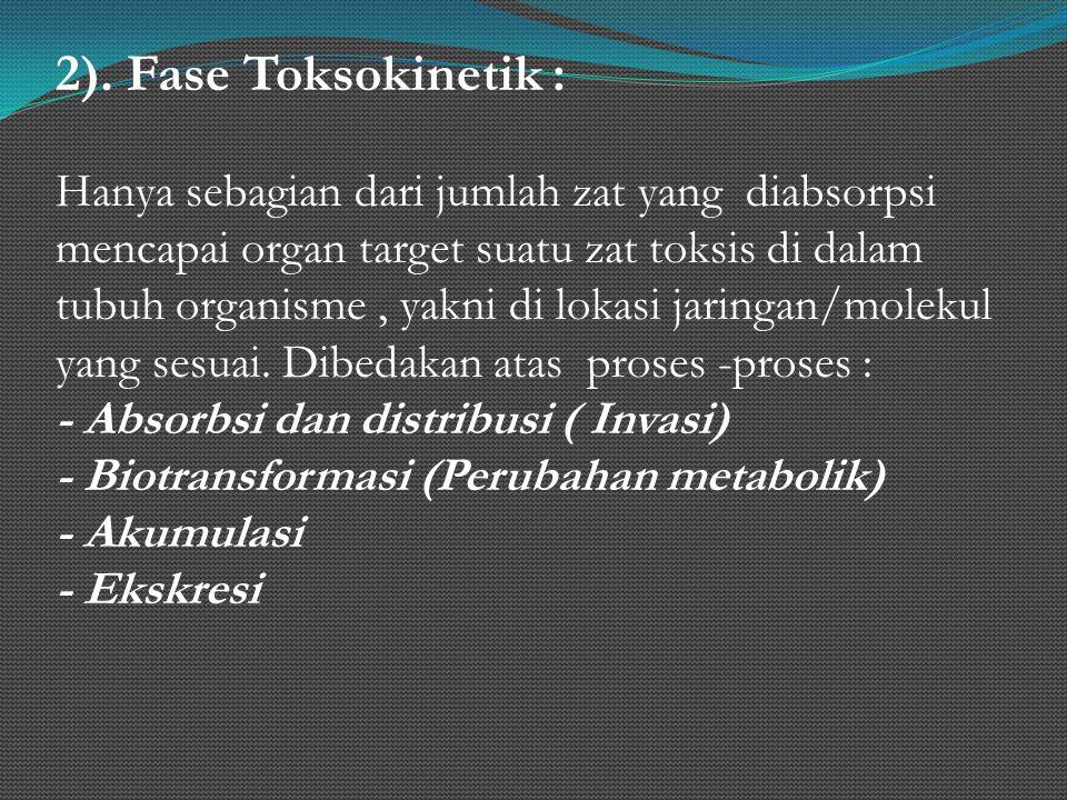 2). Fase Toksokinetik :