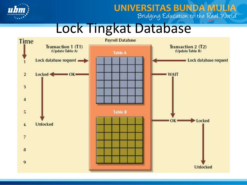 Lock Tingkat Database