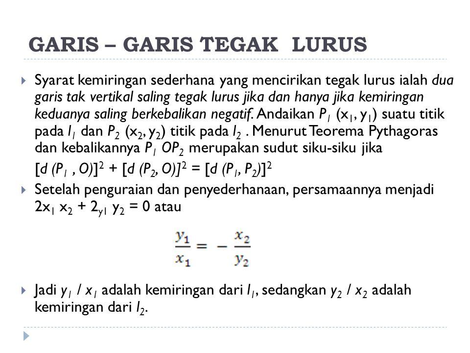 GARIS – GARIS TEGAK LURUS