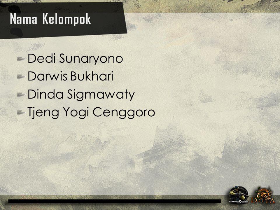 Nama Kelompok Dedi Sunaryono Darwis Bukhari Dinda Sigmawaty