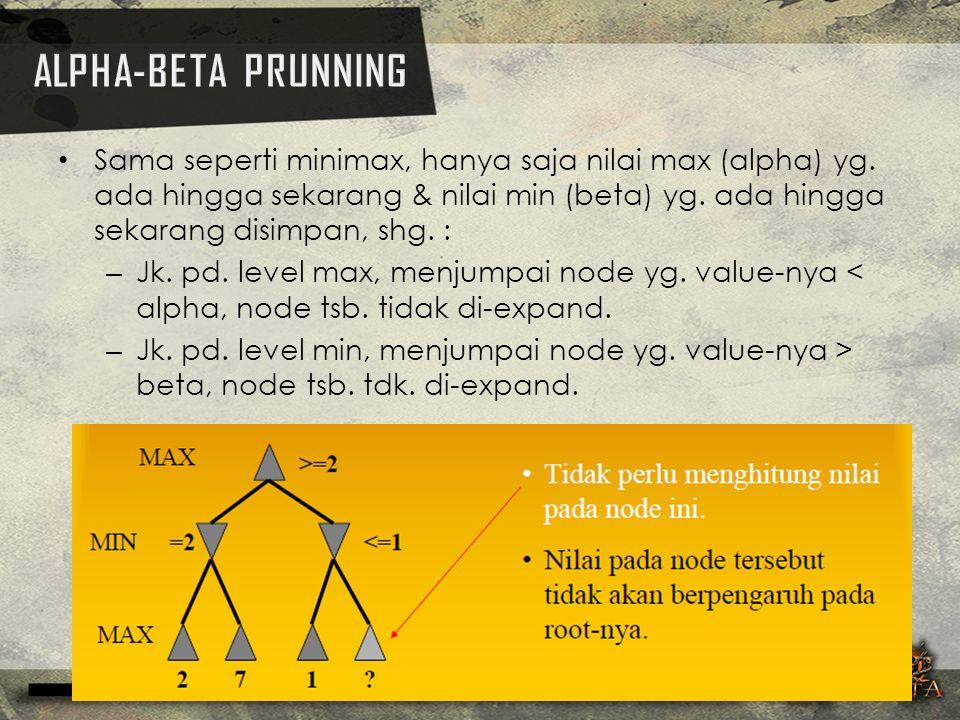 ALPHA-BETA PRUNNING