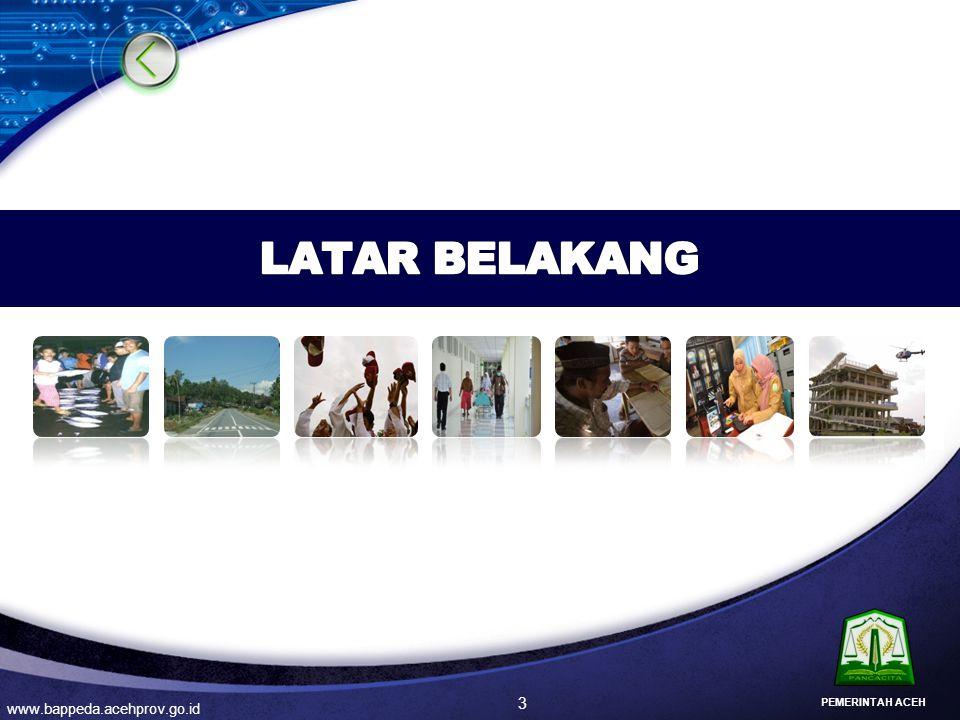 LATAR BELAKANG PEMERINTAH ACEH www.bappeda.acehprov.go.id