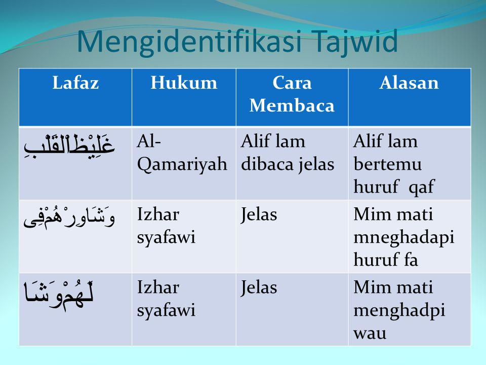 Mengidentifikasi Tajwid