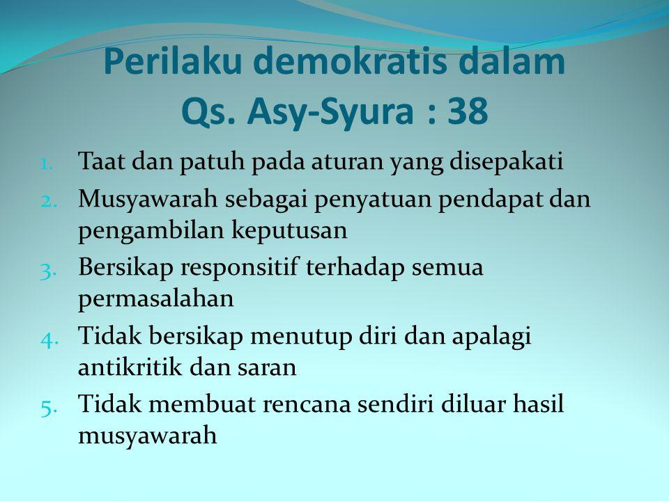 Perilaku demokratis dalam Qs. Asy-Syura : 38