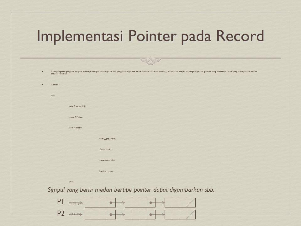 Implementasi Pointer pada Record