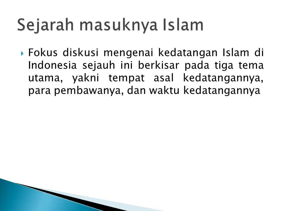 Sejarah masuknya Islam
