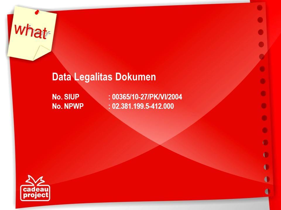 Data Legalitas Dokumen